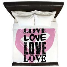 Love Quilt cover  #love #home #cover #quilt #kingsize #bed #bedroom