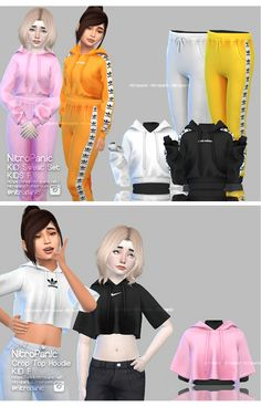 """EFFIE: Photo - nitropanic: """" SET & TOP for Female Sims KID!fli hope you enjoy! """" Youngsters Vogue Styles with regard to 2013 and also 2014 Sims 4 Toddler Clothes, Sims 4 Mods Clothes, Sims 4 Cc Kids Clothing, Toddler Outfits, Kids Outfits, Toddler Girls, Children Clothing, Girl Clothing, Sims Mods"""