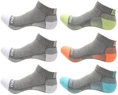 MIRMARU 407M High Performance 6 Pairs Low Cut Athletic Running Cushion Socks for Men  Women (3G/White, Lime,Orange,Aqua)   Special Offer: $24.99      466 Reviews MIRMARU high-performance low cut athletic running cushion socks. It's a perfect choice for running, cycling, light...