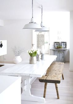Nordic dining space.