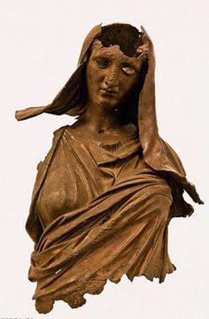 Bronze statue of Demeter, goddess of the Harvest - Hellenistic period, circa 100-50 BC, at the İzmir Archaeology Museum, Turkey