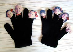 DIY Toy : DIY Family Finger Puppets and Theatre!