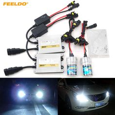FEELDO 1Set AC 12V 55W H1/H3/H7/H8/H10/H11/9005/9006 Xenon HID Kit Xenon Bulb Lamp Digital Ballast Car Headlight #FD-4472