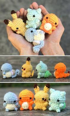 Crochet Kawaii, Crochet Pokemon, Cute Crochet, Crochet Crafts, Yarn Crafts, Crochet Projects, Knit Crochet, Crochet Beanie, Crochet Baby