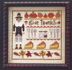 Thanksgiving Lineup - Cross Stitch Pattern