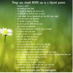 Things you should never say to a thyroid patient.