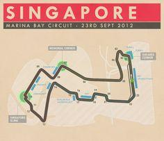 Marina Bay Circuit, Singapore - #SMDriver #F1