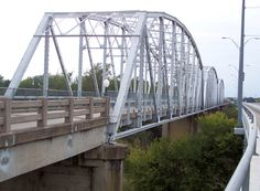"""The """"Old Iron Bridge"""" in Bastrop, Texas. Photo by Larry D. Moore."""