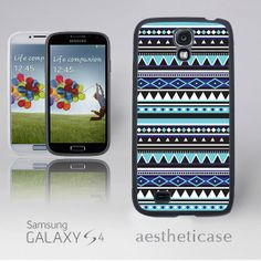 Aztec Galaxy s4 Case, Tribal Tiffany Blue Galaxy s4 Rubber Case Black White Back Cover --000079 on Etsy, $9.99