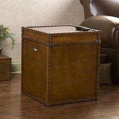 Upton Home Steamer Walnut Finish Trunk End Table   Overstock™ Shopping - Great Deals on Upton Home Coffee, Sofa & End Tables