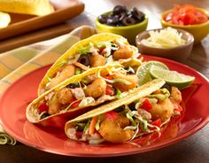 Crispy Shrimp Tacos..if only with no time to use ready shrimp - Seapak