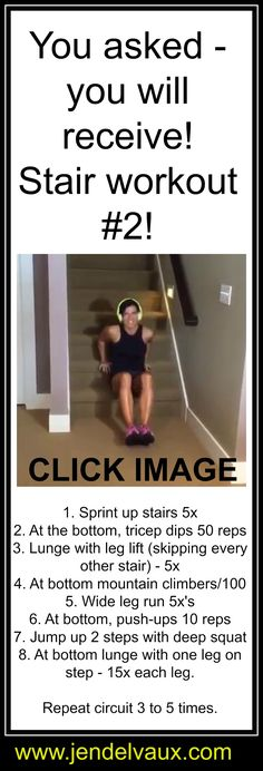 CLICK the image and don't forget to REPIN #jendelvaux #stairs #wod