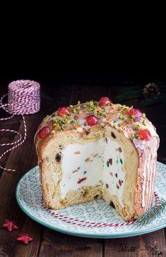 Panettone farcito con crema al mascarpone e ricotta – dolce di Natale veloce ricetta -  Zuccotto di panettone alla Cassata Dulcisss in forno by Leyla