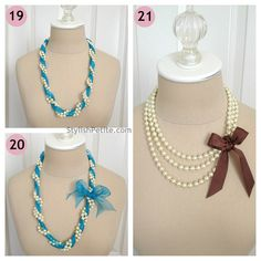 """How to wear a 60"""" Pearl Necklace 21 ways6 