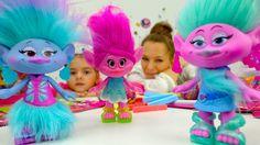 NEW!Детские игры и видео для детей про игрушки Тролли (мультики 2016): С...