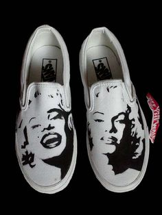 Hand Painted Custom Vans Shoes Marilyn Monroe by NadineBrittingham, $100.00