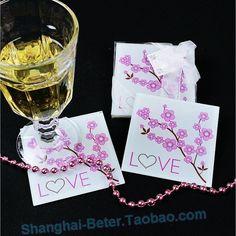 https://item.taobao.com/item.htm?id=532159958254  Japanese Cherry Blossoms Party Favor Coaster Events BETER-BD007   #glasscoaster #coasterfavors #sakura #summerparty