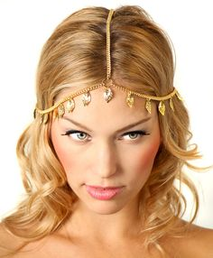 Gold Leaf Grecian Chain Headpiece Headband by ShopKP on Etsy https://www.etsy.com/listing/80824076/gold-leaf-grecian-chain-headpiece
