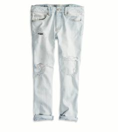OFF-WHITE Off-white Crop Bottom Bleach Jeans. off-white cloth