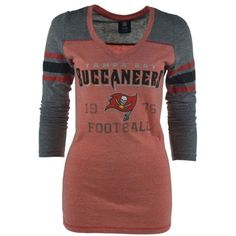 5th & Ocean Women's Long-Sleeve Tampa Bay Buccaneers Graphic T-Shirt ($17) ❤ liked on Polyvore