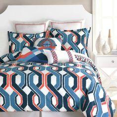 Trina Turk Coastline Nautical Queen Comforter Set - I love this fun bold pattern!