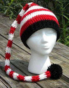 Long-Tail Elf Crochet Hat Free Pattern in Teen/Adult Size