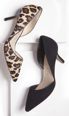 Luxe d'Orsay mid heel with a pointed toe and ultra-walkable heel. Perfect for the office.
