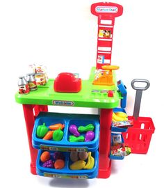 Super Market Cash Register Pretend Playset for Kids Toddler Toys, Baby Toys, Play Grocery Store, Barbie Chelsea Doll, Credit Card Machine, Play Market, Frozen Cupcake Toppers, Minnie Mouse, Cash Register