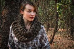 Double strands of bulky yarn are used throughout the pattern.