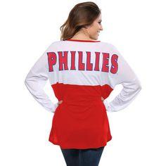 a45a696c6990f Women s Philadelphia Phillies Concepts Sport White Red Comeback Long Sleeve  T-Shirt Washington Nationals