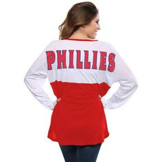 Women's Philadelphia Phillies Concepts Sport White/Red Comeback Long Sleeve T-Shirt