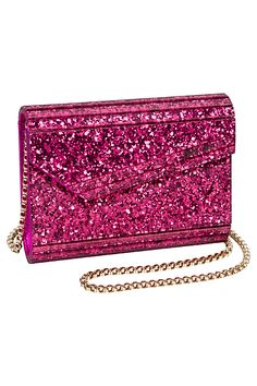 Sparkly Pink Clutch FROM: Jimmy Choo - Bags One - 2014 Pre-Fall