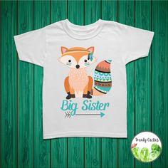 Big+Sister+Shirt+Fox+Big+Sister+Announcement+Big+by+TrendyCactus