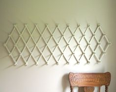 Vintage 49 Peg Expandable Accordion Wall Rack / by gazaboo on Etsy, $54.00