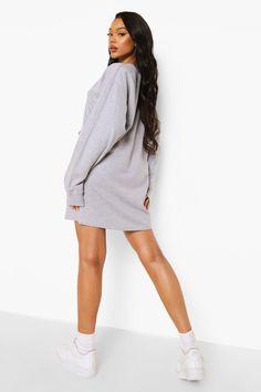 Jordan Outfits Womens, Gray Dress, Dress Up, Fresh Prince, Skater Dresses, Chunky Sneakers, Bodycon Fashion, Sweatshirt Dress, Fashion Face Mask