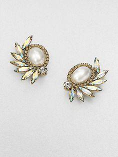 DANNIJO - Swarovski Crystal Feather Earrings