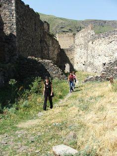 Inside the walls of Khertvisi Fortress