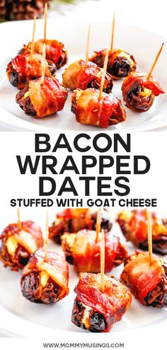 Bacon Wrapped Dates Goat Cheese – Appetizers Bacon Appetizers, Finger Food Appetizers, Appetizers For Party, Finger Foods, Appetizer Recipes, Party Snacks, Appetizer Ideas, Appetizers With Goat Cheese, Recipes With Goat Cheese