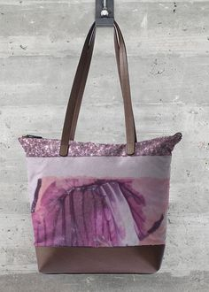 Make a statement with our most coveted accessory of the year - the Statement Bag. Featuring beautiful art custom embellished on cotton and finished with genuine leather accents. Vida Design, Style Guides, Print Design, Art Print, Madewell, Diaper Bag, Like4like, Reusable Tote Bags, Leather