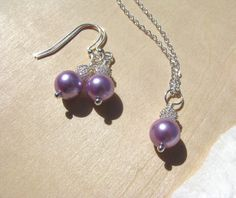 Purple Jewelry Wedding Jewelry Bridesmaid Sets by BostonSeaglass, $19.00