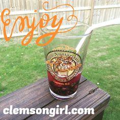Clemson Girl - Happy Hour - Blueberry Vodka Lemonade Tailgating Cocktail