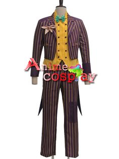 Batman Arkham Asylum Joker Coat Suit Cosplay Costumes Batman Arkham Asylum Joker