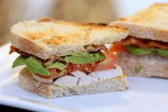 Grilled Avocado Turkey Sandwich