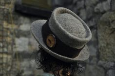 Hand felted wool trilby fedora hat 'Perfectly by Innerspiral