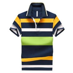 Buy from us Men's Style Polo Shirts Summer spring A cotton Casual Striped Slim. Get a discount for the entire collection Men's Style Polo Shirts . Polo 2015, Mens Polo T Shirts, Shirt Men, Men's Polos, Moda Emo, Striped Polo Shirt, Matches Fashion, Suits, Casual Shirts
