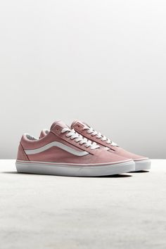 Slide View: 1: Vans Old Skool Pink Suede Sneaker