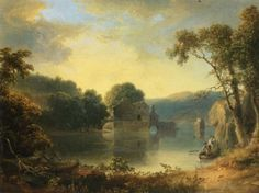 Thomas Doughty Ruins in a Landscape art painting for sale; Shop your favorite Thomas Doughty Ruins in a Landscape painting on canvas or frame at discount price. Famous Landscape Paintings, Canvas Painting Landscape, Landscape Artwork, Paintings I Love, Cool Landscapes, Abstract Landscape, Nice Landscape, Acrylic Paintings, Oil Paintings