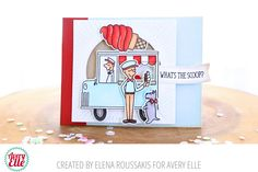Elena Roussakis for Avery Elle Supplies: The Scoop Clear Stamps The Scoop Ellements Dies Burst Ellements Dies Wonky Stitches Ellements Dies Pierced Banner Layer Dies