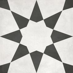 Satori Nouveau Nero Starlight Deco x Matte Porcelain Encaustic Floor and Wall Tile at Lowe's. Beautiful decorative tile that enhances any decor. Black And White Tiles, Black And White Design, Black White, Bath Tiles, Encaustic Tile, Tiles Online, Before Midnight, Commercial Flooring, Decorative Tile