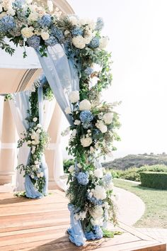 A Dreamy Dusty Blue Pelican Hill Wedding Teeming with Hydrangeas Best Picture For wedding decorations rustic For Your Taste You are looking for something, and it is going to tell you exactly what you Blue Wedding Decorations, Blue Wedding Flowers, Wedding Themes, Floral Wedding, Wedding Colors, Hydrangea Wedding Centerpieces, Baby Blue Wedding Theme, Wedding Ideas, Boho Wedding